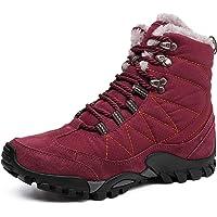 TQGOLD Bottes de Neige Homme Femme Chaussures de Trekking Chaud Bas Rond Haut Bottes Hiver Boots Fourrure Plate Bottes…