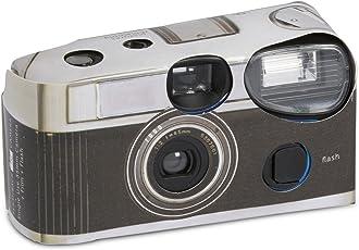 Einwegkameras mit Blitzlicht, klassisches Design, Schwarz, 10Stück