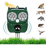 Repellente per Gatti,Ultrasuoni Piccioni,IP66 Impermeabile, ad Energia Solare e con Fequenza Regolabile per Allontanare Cani,