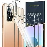 QHOHQ 3 Pezzi Pellicola Protettiva per Xiaomi Redmi Note 10 PRO/Note 10 PRO Max con 3 Pezzi Fotocamera Pellicola Protettiva,V
