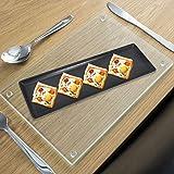 Homeware Unbreakable Serving Snacks Platter_ Black