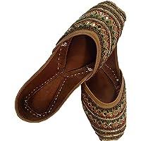 Beautiful Punjabi Jutti - Handcrafted Leather - Best Comfortable & Beautifull Stone Work Jutti - Unique Design Jutti…