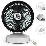 KLIM Breeze - Ventilateur de Bureau USB Haute Performance - Ventilo de Table - Silencieux et Ajustable - Blanc [ Nouvelle Version 2019 ]