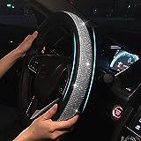 Cystal Steering Wheel Cover, Leather Steering Wheel Cover Bling Bling Rhinestones Crystals Car Handcraft Steering Wheel Cover