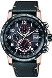 Citizen Herren Chronograph Quarz Uhr mit Leder Armband AT8126-02E