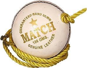 PSE Priya Sports Unisex Leather Practice Cricket Ball White