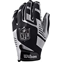 Wilson NFL Stretch Fit Receivers Glove, Guanti da Ricevitore per Football, Taglia Unica