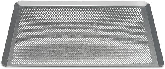 Patisse 03640 Silver-Top Backblech Gelocht, Stahl, Silber, 40 x 30 x 1 cm