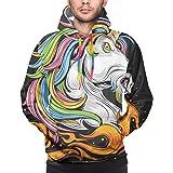 Sudaderas atléticas para hombre y niño Cool Rainbow Unicorn Horse Spit Fire