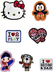 Girl Kids Iron On Patch / Cute Patches for kids garments / Sequin / Cartoon Patches For Kids Clothes / Cloth Stickers / Applique for kids clothing ( 7 designs)