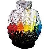 Freshhoodies Unisex Hoodie Realistic Printed Pullover Hooded Long Sleeve Jumper with Pocket S-XXL