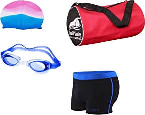 StarX Swmikit3 Latex Swimming Kit, Adult Free Size (Multicolor)