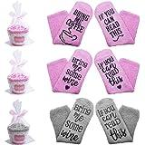 SENHAI 3 paia di calzini con 3 confezioni regalo e nastri Cupcake, Regalo divertente per Elder, Friend and Lover - If You Can