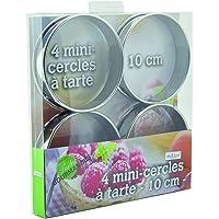 Ard'time TG-4CERC Lot de 4 Mini-Cercles à Tarte Inox