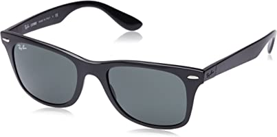 Ray-Ban Men's Nylon Man Non-Polarized Iridium Square Sunglasses, Matte Black, 52 mm