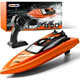 GizmoVine Barcos de Control Remoto para Piscinas y Lagos, Barcos RC de Alta Velocidad de 2,4 GHz para niños, Juguetes de Barc