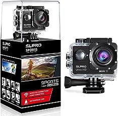 SLPRO® Action Cam 1080P Full HD Unterwasser Aktion Kamera wasserdicht Helmkamera 170 ° Weitwinkel mit Zubehör Kits verbesserter Akku Sports Kamera