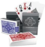 Bullets Playing Cards – Two Decks of Poker Cards – Waterproof Plastic Playing Cards – Easy to Read & Great Feel - Jumbo Index & Two Pips – for Texas Holdem Poker