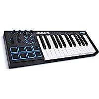 Alesis V25 - Clavier Maître USB-MIDI 25 Touches Portable avec 8 Pads Sensibles Rétroéclairés, 4 Encodeurs Assignables, et Suite de Logiciels Professionnels avec ProTools | First Incluse
