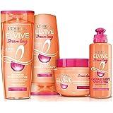 L'Oréal Paris Shampoo + Balsamo + Maschera + Trattamento Dream Long, Box Dream Long con Shampoo, Balsamo, Maschera e Crema By