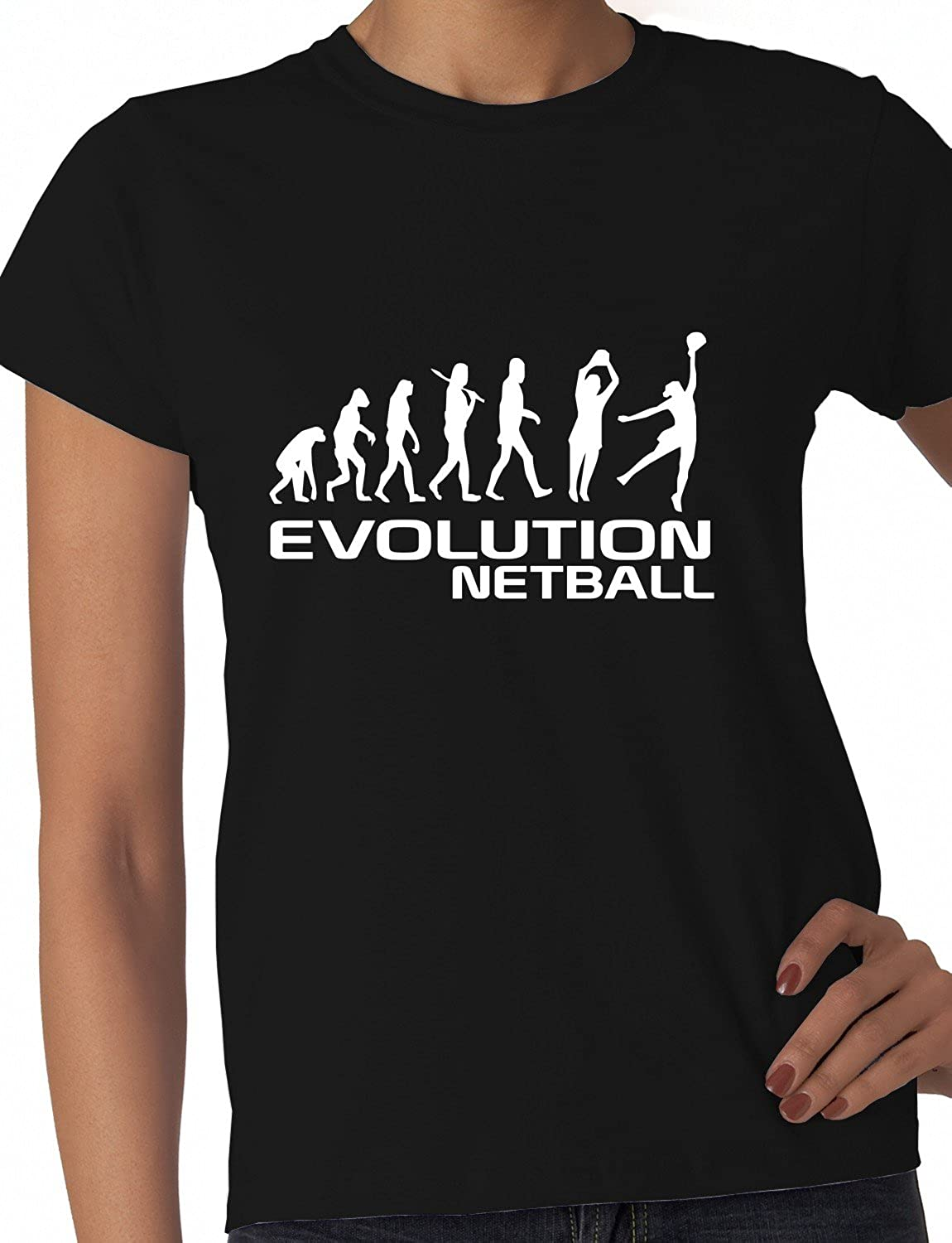 Design t shirt netball - Evolution Of Netball Funny Ladies T Shirt Size S Xxl Amazon Co Uk Clothing