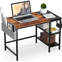 HOMIDEC Schreibtisch, Computertisch PC Tisch mit Aufbewahrungstasche & Kopfhörer Halter, Bürotisch Schreibtisch Holz…