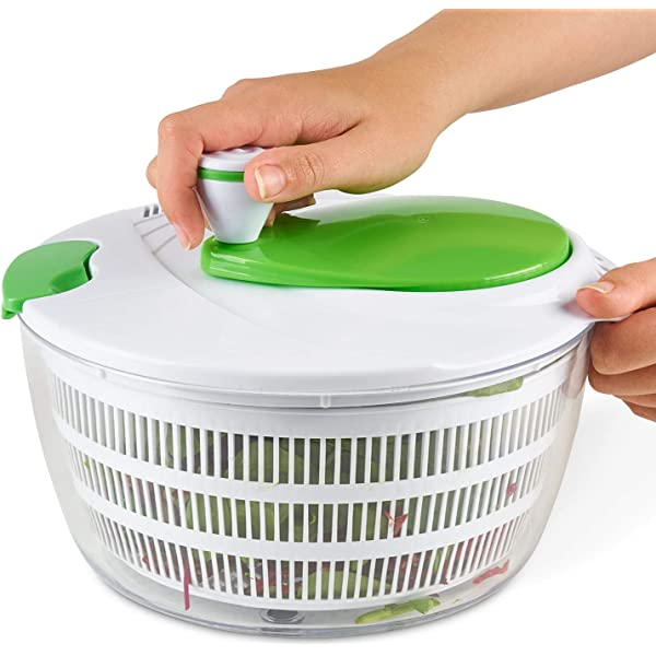 Healthy Eating Large Salad Spinner and Dresser White// Green 25 cb