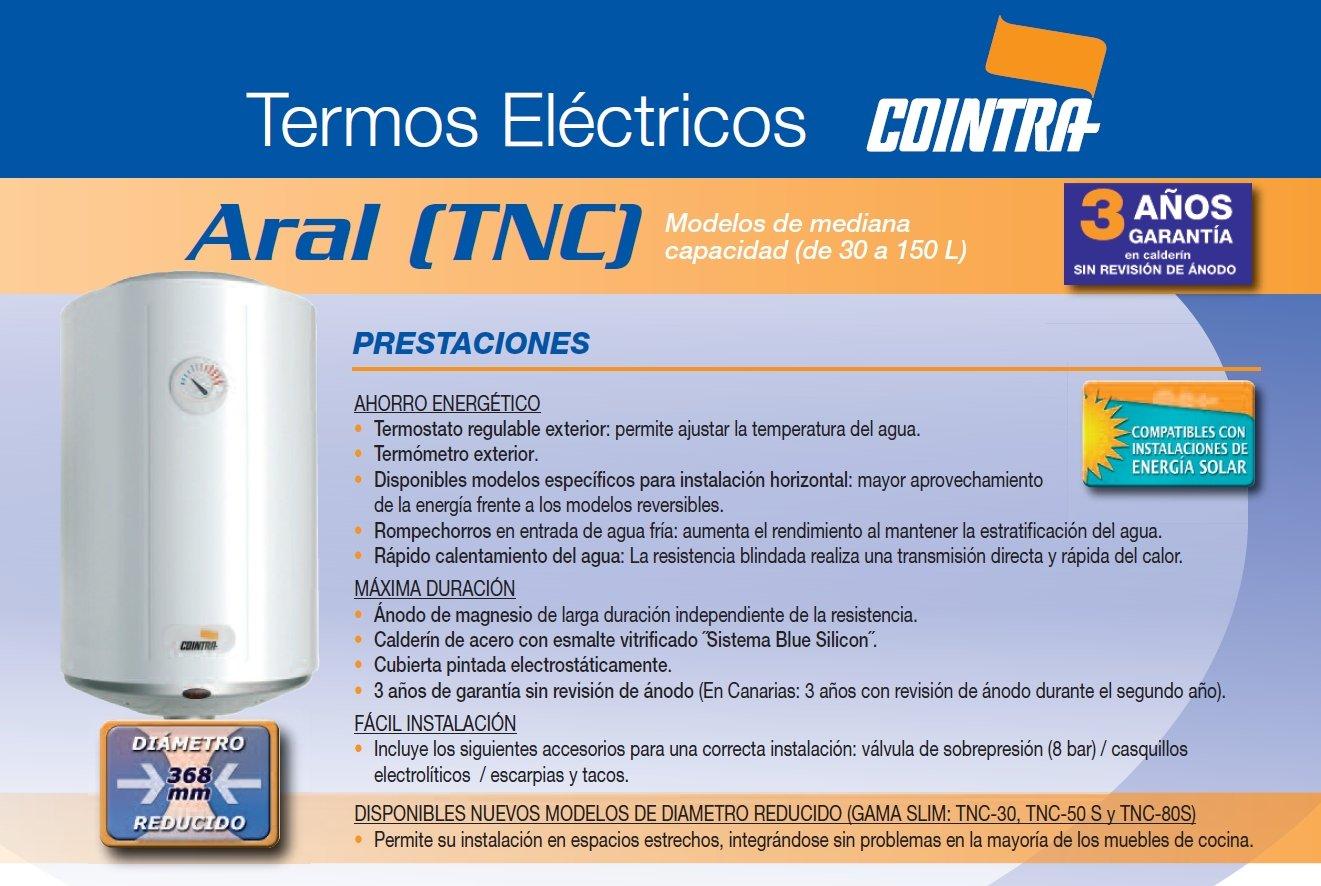7114UkXo1DL - Cointra  - Termo eléctrico Vertical tnc50 con Capacidad de 50 litros