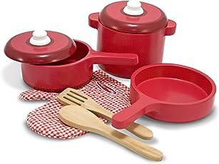 Melissa & Doug 12610 Hölzernes Küchenzubehör, Mehrfarben
