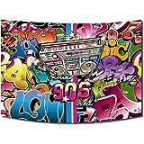 FiVan Disco Party Banner Bakgrund Glare Free Vinyl - Tillbaka till 80-tal 90-talets festdekoration fotobooth bakgrund, XT-753