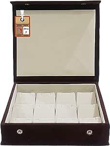 atorakushon® PU Leather Makeup Storage Box Travelling Vanity Jhumka Earrings Cosmetic Necklace Jewellery Wardrobe Organizer for Woman
