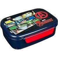 Scooli Marvel The Avengers AVER9903 Boîte à goûter en plastique avec deux clips, facile à ouvrir et à fermer, sans BPA…