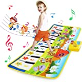 BelleStyle Alfombra de Piano, Alfombra Musical para Bebé, Estera de Piano Musical con 8 Instrumentos 10 Teclas de Piano Baile