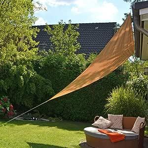 Sonnensegel Dreieck beige Sonnentuch Schattenspender Beschattung Segel 3 bis 6 m