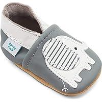 Dotty Fish Soft Leather Baby Shoes with Animal Designs, Scarpe per Chi Inizia a Camminare Unisex-Bambini