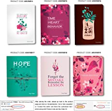 Select any ONE of Displayed Design of Personalised / Customized Notebook / Diary size 5.5 x 8.5 inches 240 blank pages Hardbound Rounded corner with Bookmark (Collection 03)