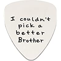 Brother Gifts Guitar Pick for Men I Couldn't Pick a Better Brother Stainless Steel Pendant Charms