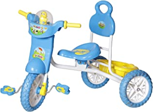 Archana NHR Kids Vega Musical Tricycle with Storage Basket and Lights (Blue)
