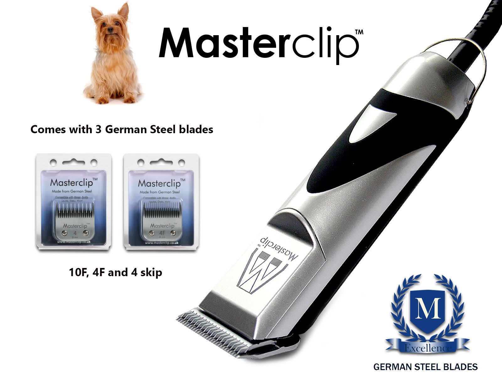 Masterclip Yorkshire Terrier Professional Dog Clippers Set Pet Grooming Clipper Trimmer Supplies