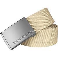 Urban Classics Canvas Belt Cintura con Fibbia Scorrevole in Metallo, Regolabile, 100% Poliestere, Diversi Colori…