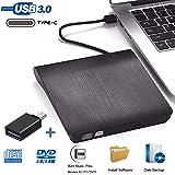 iAmotus Lecteur CD DVD Externe, Graveur DVD Externe Portable USB 3.0 Type C Dual Port Lecteur de CD Externe +/-RW ROM…