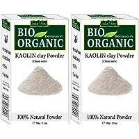 INDUS VALLEY Bio Organic Kaolin Powder For Skin Face Mask -Set of 2 (100g+100g =200g)