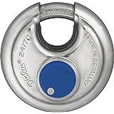 ABUS Diskus® hangslot 24IB/70 van roestvrij staal - met 360° bescherming rondom - ter beveiliging bij sterke weersomstandighe