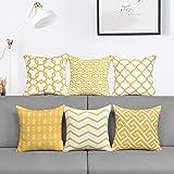 Alishomtll Lot de 6 housses de coussin d'extérieur Motif géométrique Housses de coussin décoratives pour canapé chambre Polye