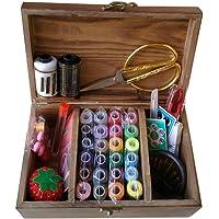 DDXTJ-DMM Panier à couture en bois/boîte à couture avec kit de couture Accessoires