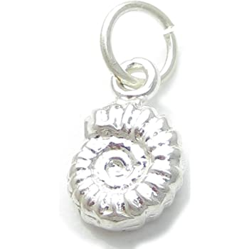 Conch Shell sterling silver charm .925 x 1 Conches Shells charms ECMJ10