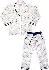 ShopMozo - PrintedWhite Boys Night Suit (Boys Night Dress)