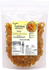 Tassyam Golden Raisins 400g | Healthy Juicy Jumbo Indian Kishmish Pouch