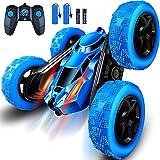 RC bilar Stunt Car Toy, 2,4 GHz RC Racing lastbilar i terrängen, RC Truck med LED-strålkastare, dubbelsidig 4WD 360° rotation