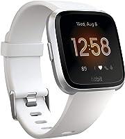ساعة فيتبيت فيرسا الصحية والملائمة مع معدل ضربات القلب، بطارية 4 أيام ومقاومة للماء، أبيض/فضي